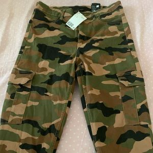 Brand new with tag, Camo cargo pants